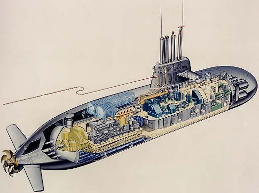 Схема подводной лодки проекта