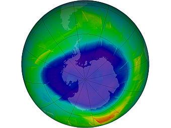 Озоновые дыры оказывают охлаждающий  эффект