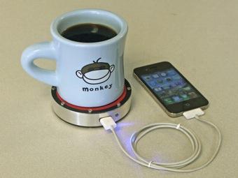 Чашка кофе сможет зарядить ваш мобильный телефон