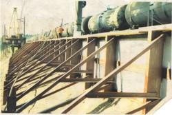 Изготовление буронабивных железобетонных свай РИТ в структурно-неустойчивых грунтах без перерывов в движении поездов
