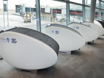 Кабинки-«коконы» для отдыха GoSleep в аэропорту Абу-Даби