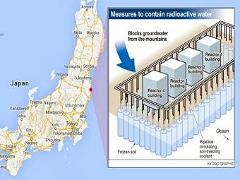 Фукусимскую АЭС закроют ледяной дамбой