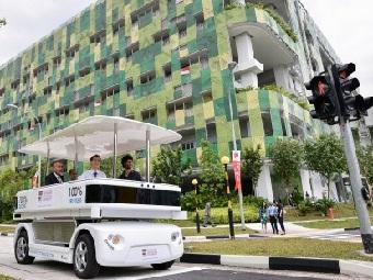 Самоуправляемая «маршрутка» на дорогах Сингапура