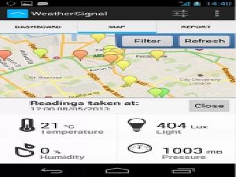 WeatherSignal взламывает ваш смартфон, превращая его в метеостанцию