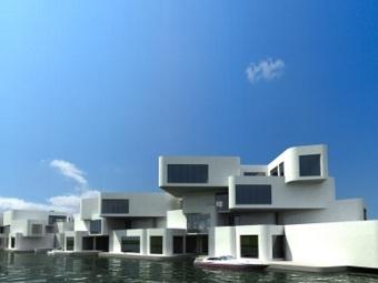Первая в мире квартира на воде начнет строиться в 2014 году
